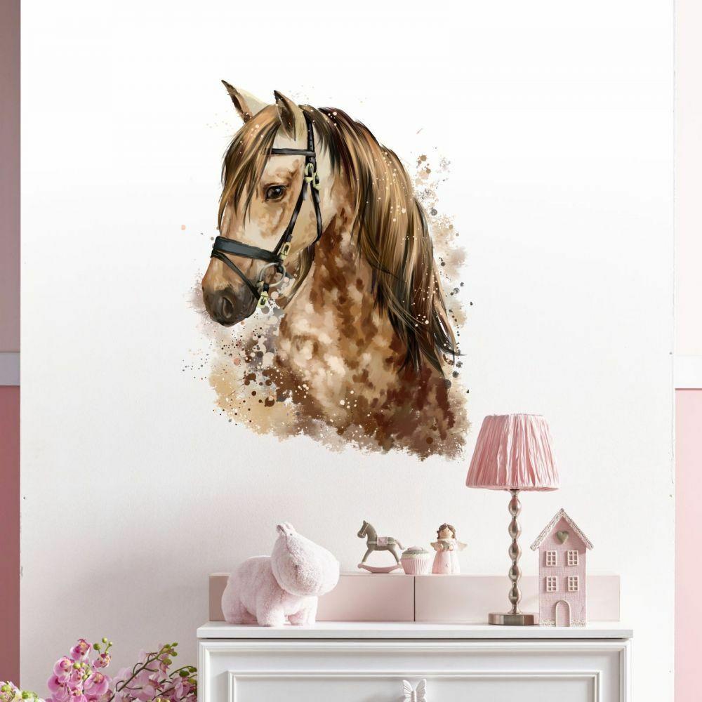 Full Size of Nikima 085 Wandtattoo Pferd Kopf Braun Kinderzimmer Sticker Regal Weiß Sofa Regale Kinderzimmer Kinderzimmer Pferd