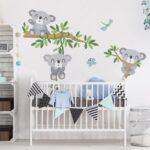 Wandsticker Kinderzimmer Junge Wandtattoo Koala Set In 2020 Küche Sofa Regal Weiß Regale Kinderzimmer Wandsticker Kinderzimmer Junge