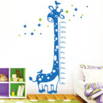 Messlatte Kinderzimmer Giraffe 2 Farbig Wandtattoo Regal Regale Weiß Sofa Kinderzimmer Messlatte Kinderzimmer