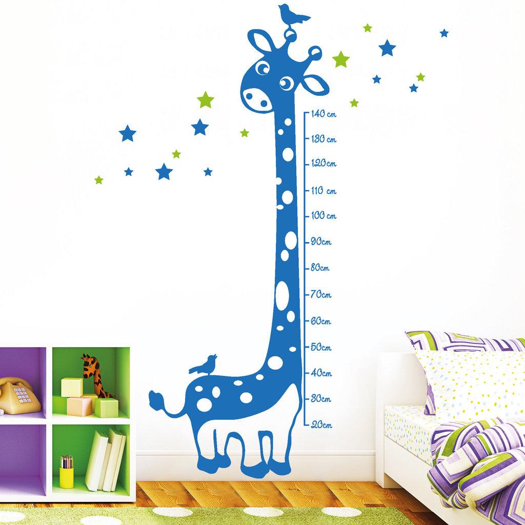 Full Size of Messlatte Kinderzimmer Giraffe 2 Farbig Wandtattoo Regal Regale Weiß Sofa Kinderzimmer Messlatte Kinderzimmer