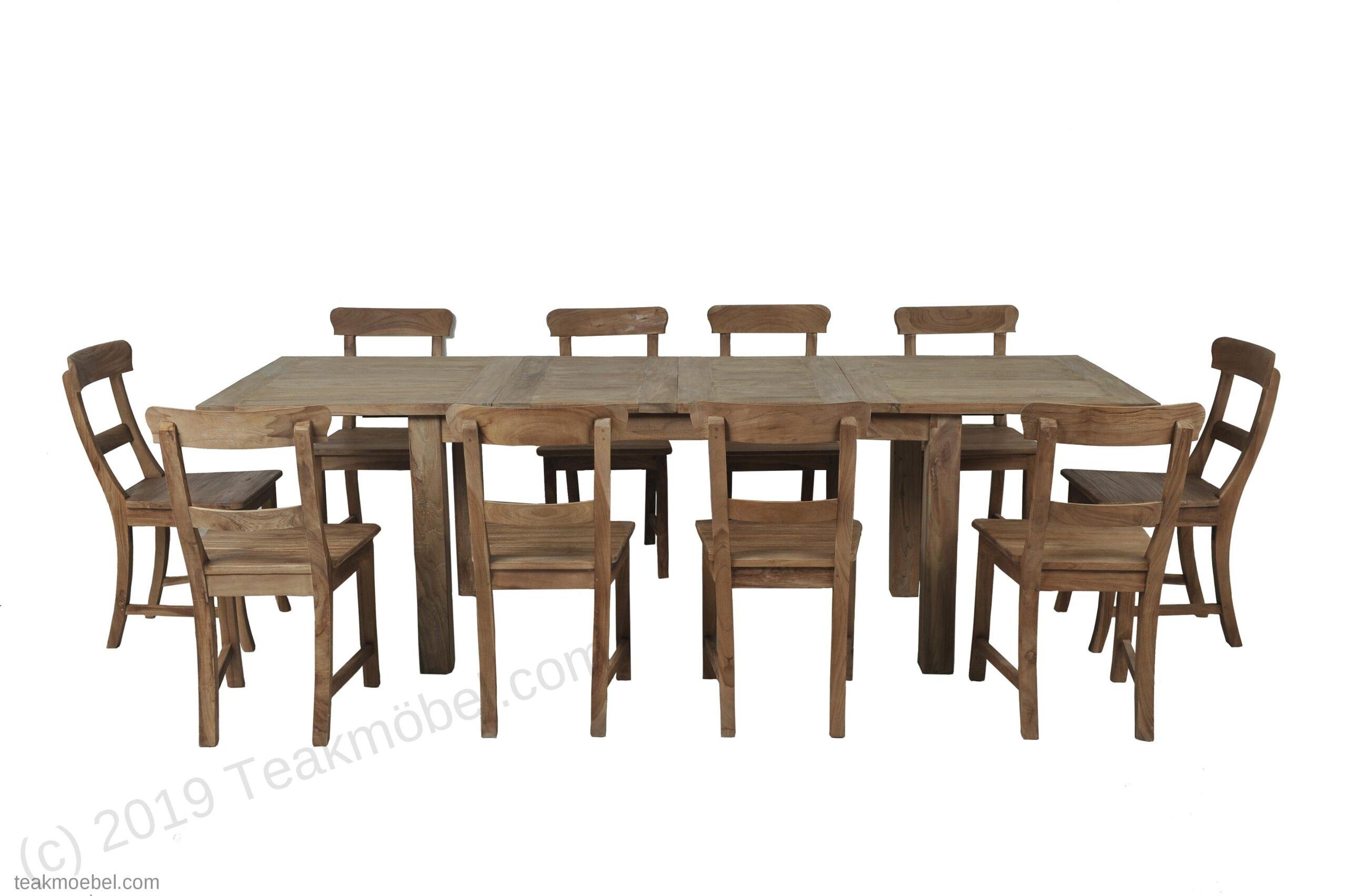 Full Size of Esstisch Stühle Teak Ausziehbar 160 210 260x90 10 Sthle Teakmbelcom Massiv Shabby Oval Landhaus Mit Baumkante Rund Garten Stapelstühle Landhausstil Ovaler Esstische Esstisch Stühle