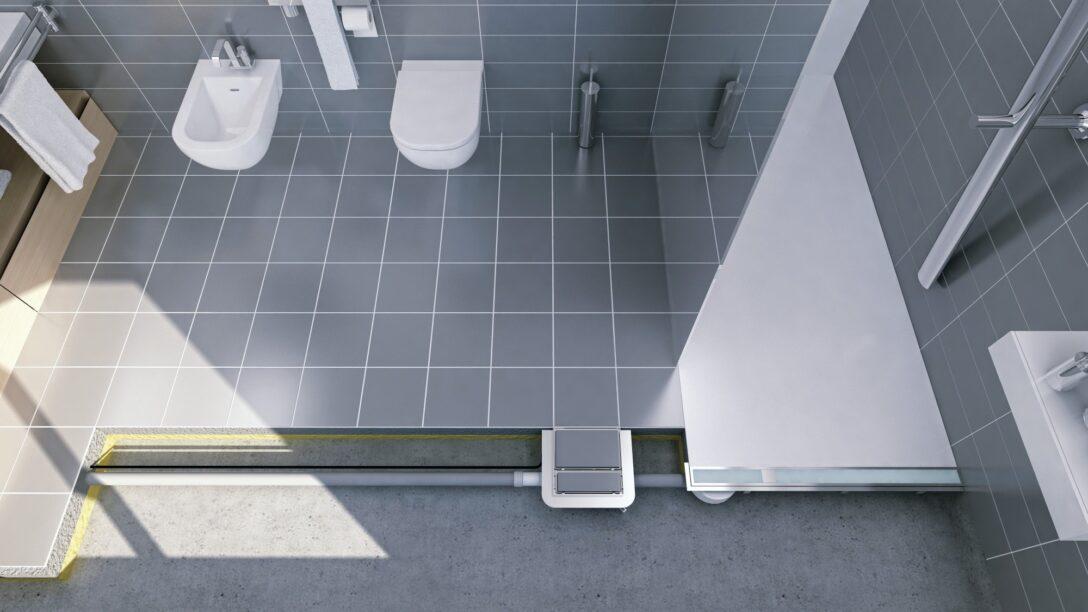 Large Size of Dusche Bodengleich Bodenablaufpumpe Fr Barrierefreie Duschen Im Bestand Bad Und Glaswand Glastrennwand Bodengleiche Nachträglich Einbauen Ebenerdige Fliesen Dusche Dusche Bodengleich