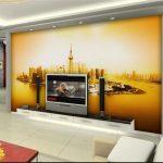 Vliestapete Wohnzimmer Wohnzimmer Vliestapete Wohnzimmer 3d Fototapete Mural Shanghai Led Anbauwand Heizkörper Teppich Großes Bild Vorhänge Für