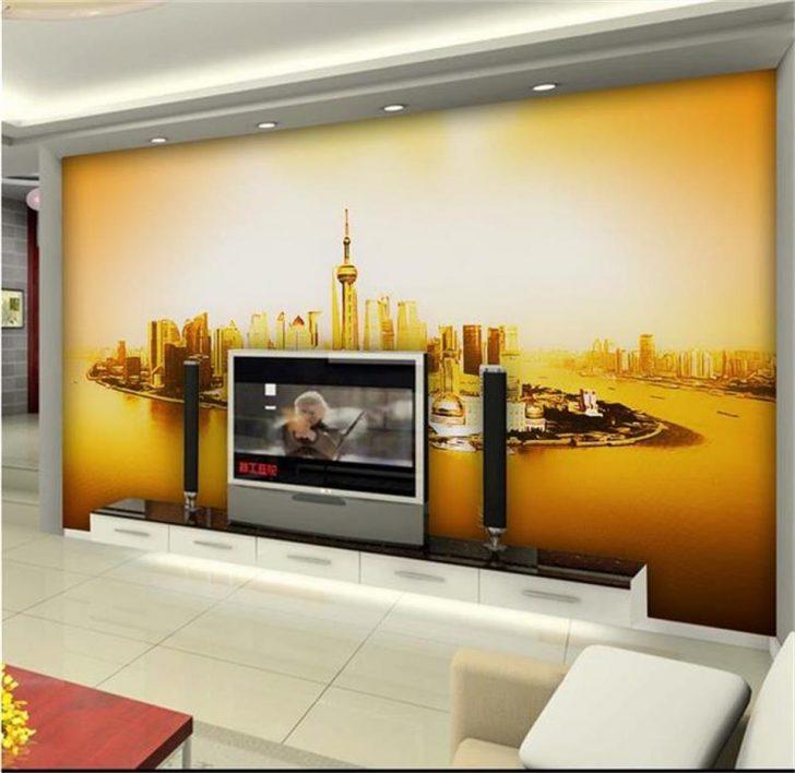 Medium Size of Vliestapete Wohnzimmer 3d Fototapete Mural Shanghai Led Anbauwand Heizkörper Teppich Großes Bild Vorhänge Für Wohnzimmer Vliestapete Wohnzimmer