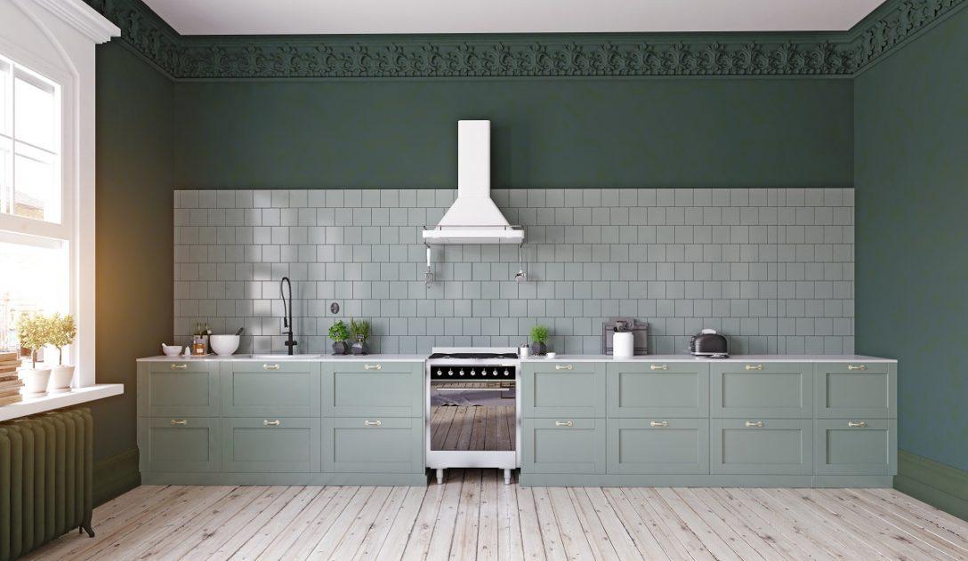 Large Size of Küche Wandfarbe Grne Kchen Kchendesignmagazin Lassen Sie Sich Inspirieren Winkel Schrankküche Amerikanische Kaufen Rolladenschrank Kräutertopf Deckenlampe Wohnzimmer Küche Wandfarbe