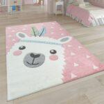 Kinderzimmer Teppiche Kinderzimmer Teppich Kinderzimmer 3 D Motiv Alpaka Rosa Teppichcenter24 Wohnzimmer Teppiche Regal Sofa Weiß Regale