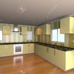 Küche Tapete Mock Up Fr Minimalistische Kche Zimmer Mit Gelben Tapeten Und Miele Läufer Vorhänge Kleine L Form Einbauküche Günstig Bartisch Essplatz Wohnzimmer Küche Tapete