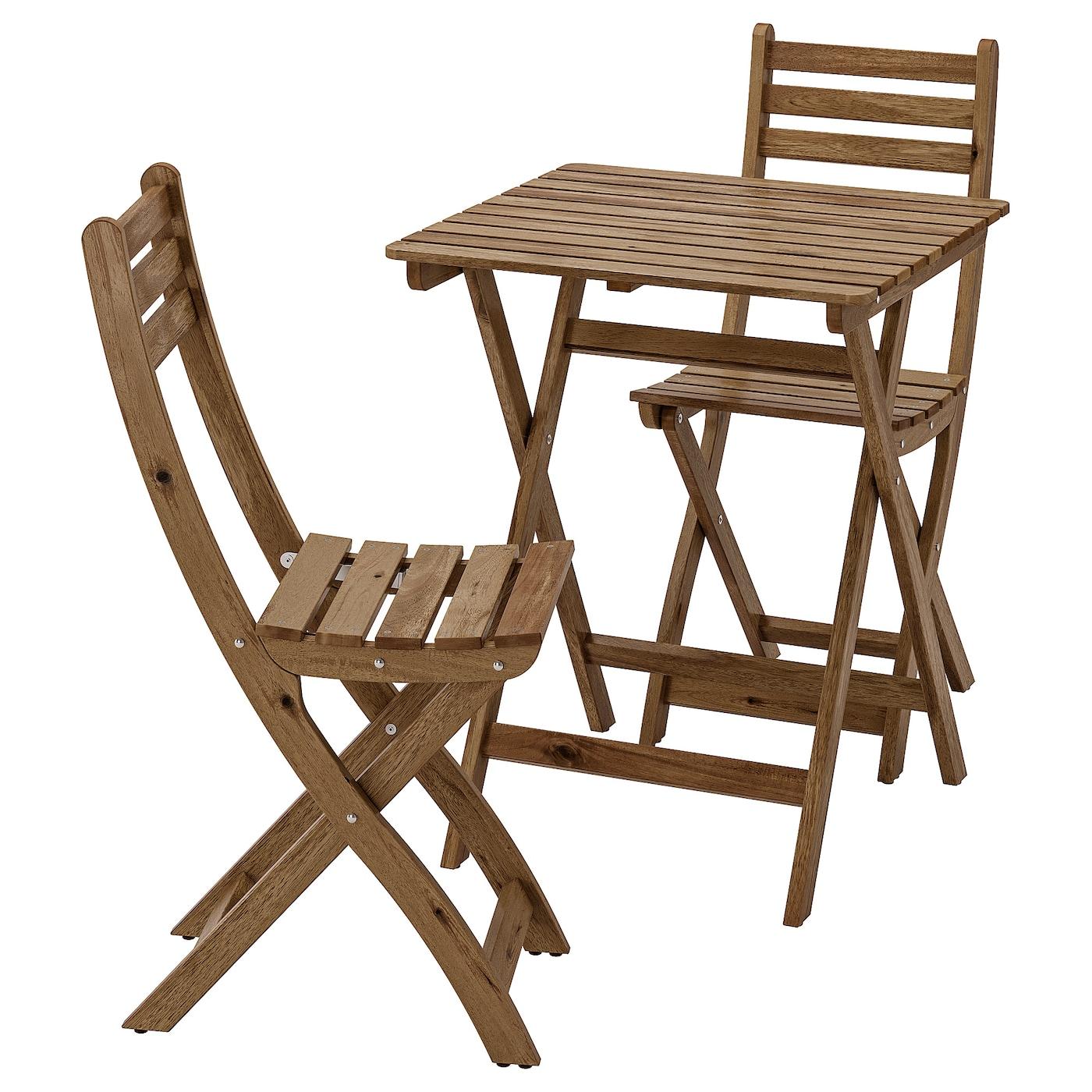 Full Size of Ikea Gartentisch Askholmen Tisch 2 Sthle Auen Grau Graubraun Lasiert Küche Kosten Betten Bei Kaufen Sofa Mit Schlaffunktion Modulküche Miniküche 160x200 Wohnzimmer Ikea Gartentisch