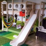 Kinderzimmer Hochbett Kinderzimmer Kinderzimmer Hochbett Rutschenpodeste Long Island Regal Weiß Sofa Regale