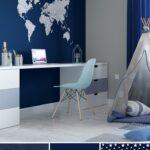 Kinderzimmer Jungen Kinderzimmer Kinderzimmergestaltung Fr Jungs In Blau Und Toller Weltkarten Sofa Kinderzimmer Regal Regale Weiß