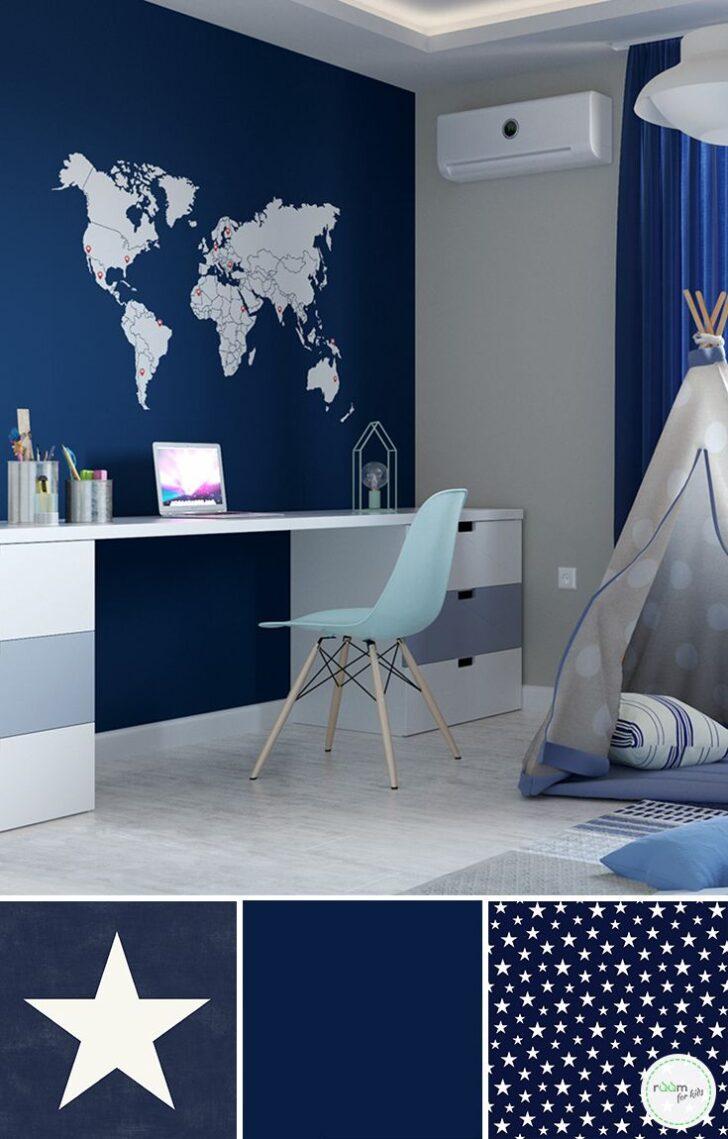 Medium Size of Kinderzimmergestaltung Fr Jungs In Blau Und Toller Weltkarten Sofa Kinderzimmer Regal Regale Weiß Kinderzimmer Kinderzimmer Jungen