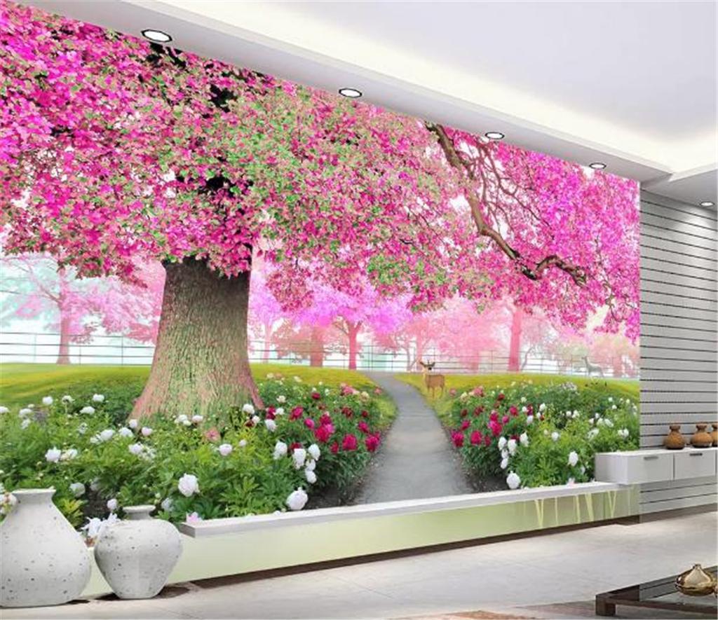 Full Size of 3d Tapeten Blumen Meer Kirschblten Baum Gehweg Field Of Für Küche Wohnzimmer Ideen Fototapeten Schlafzimmer Die Wohnzimmer 3d Tapeten