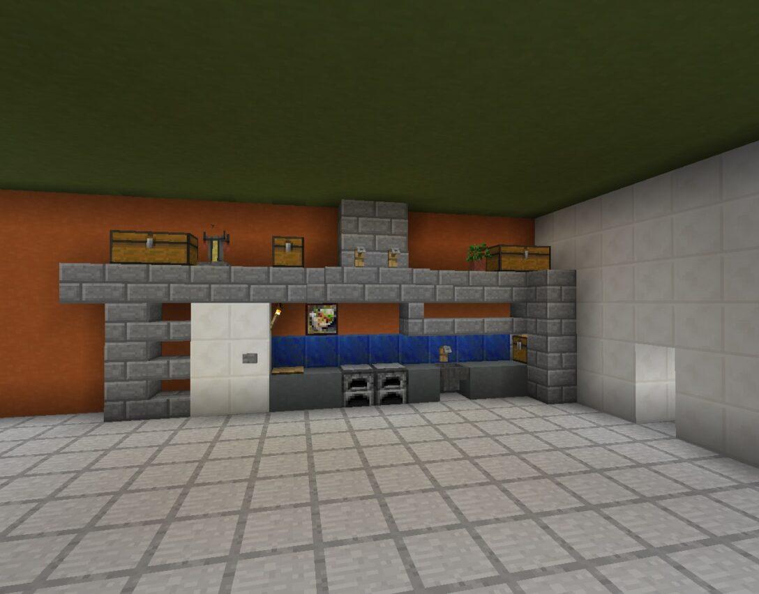 Large Size of Kchenzeile In Minecraft Bauen Bauideende Küche Planen Kostenlos Landhausküche Beistelltisch Jalousieschrank Wasserhahn Für Abfalleimer Industriedesign Wohnzimmer Minecraft Küche