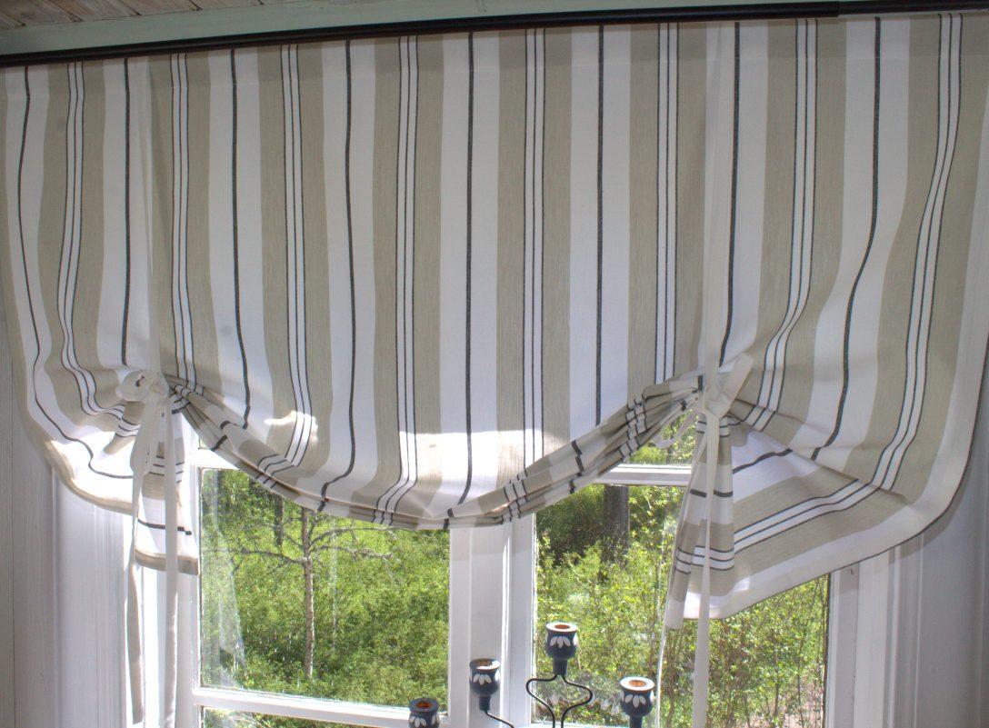 Large Size of Raffrollo Landhaus Raff Gardine Romy Schwarz Rollo 100 120 140 160 Cm Breit Bett Schlafzimmer Landhausstil Weiß Fenster Küche Betten Regal Esstisch Wohnzimmer Raffrollo Landhaus
