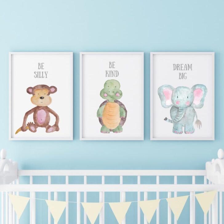 Medium Size of Wandbild Kinderzimmer 3er Set Babyzimmer Poster Bilder Affe Regal Regale Wandbilder Wohnzimmer Sofa Weiß Schlafzimmer Kinderzimmer Wandbild Kinderzimmer