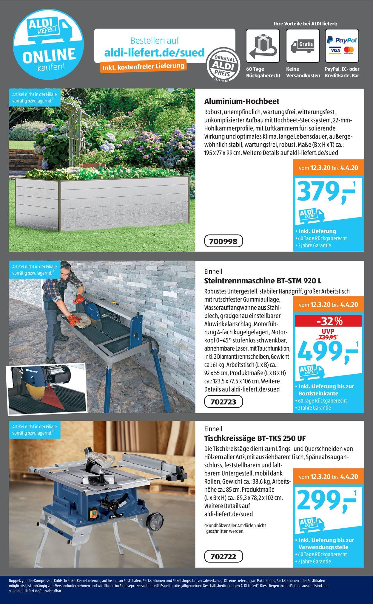 Full Size of Hochbeet Aldi Sd Aktueller Prospekt 3003 04042020 18 Jedewoche Garten Relaxsessel Wohnzimmer Hochbeet Aldi