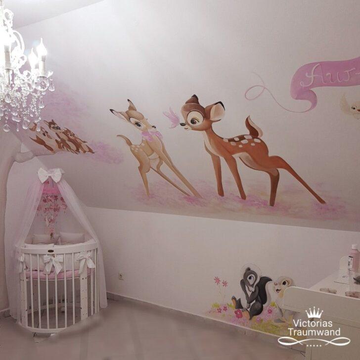 Medium Size of Bambi Wandbild Wandmalerei Im Kinderzimmer Murals Regal Wohnzimmer Sofa Weiß Wandbilder Regale Schlafzimmer Kinderzimmer Wandbild Kinderzimmer