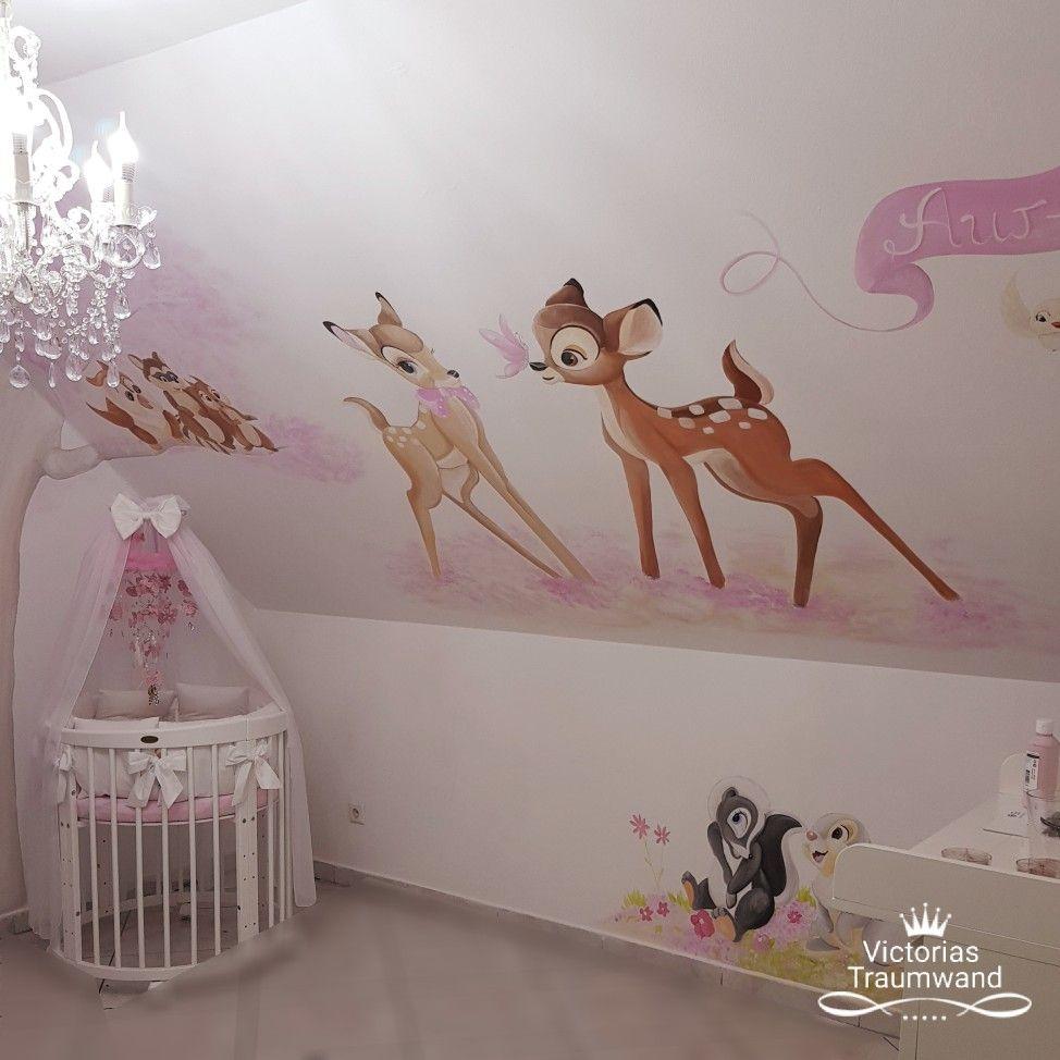 Full Size of Bambi Wandbild Wandmalerei Im Kinderzimmer Murals Regal Wohnzimmer Sofa Weiß Wandbilder Regale Schlafzimmer Kinderzimmer Wandbild Kinderzimmer