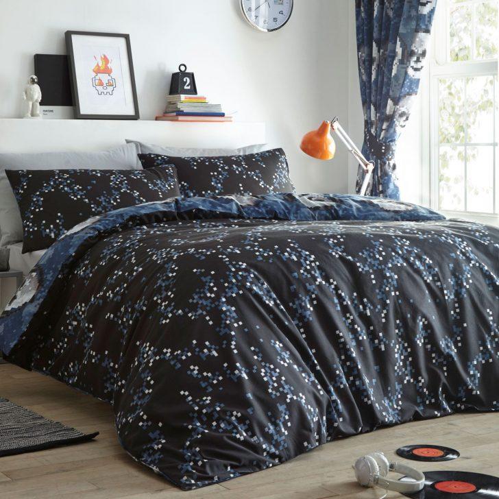 Medium Size of Bettwschegarnituren Pixel Totenschdel Einzelbett Bettbezug Und Teenager Betten Für Bettwäsche Sprüche Wohnzimmer Bettwäsche Teenager