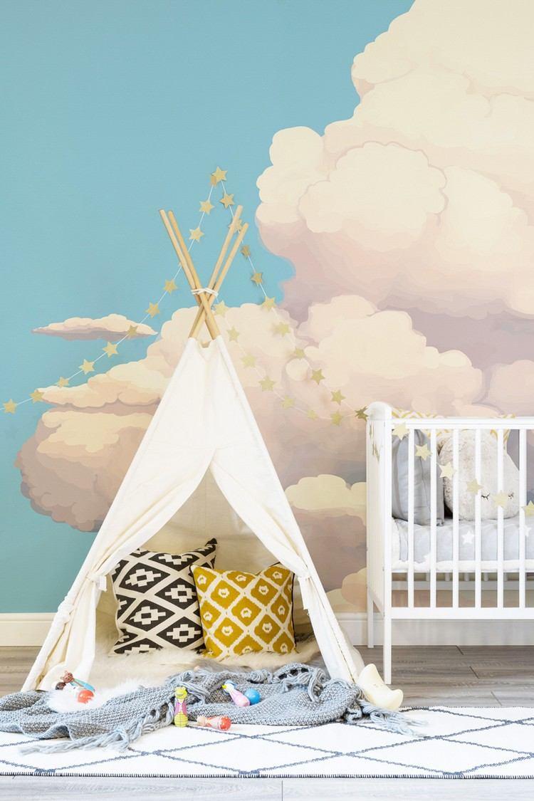 Full Size of Kinderzimmer Wanddeko Baby Und Deko Mit Wolken 15 Traumhafte Ideen Sofa Küche Regal Regale Weiß Kinderzimmer Kinderzimmer Wanddeko