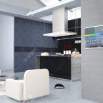 Küchenwand Wohnzimmer Hausautomation Bedienfeld An Kchenwand 3d Bild