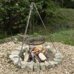 Eine Sehr Einfache Runde Feuerstelle Mit Steinen Erstellt Enthlt Kinderspielturm Garten Vertikaler Spielgerät Spielhaus Holz Relaxsessel Skulpturen Wohnzimmer Grillstelle Garten