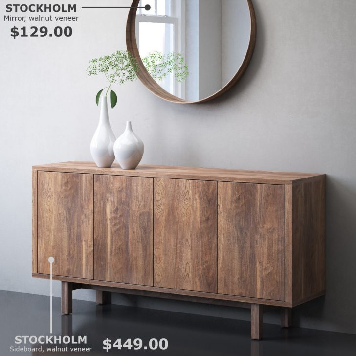 Medium Size of Ikea Sideboard Stockholm And Mirror 3d Cgtrader Küche Kaufen Kosten Betten Bei 160x200 Sofa Mit Schlaffunktion Wohnzimmer Arbeitsplatte Miniküche Modulküche Wohnzimmer Ikea Sideboard