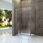 Glaswand Dusche Arto 80 175 Duschtasse Glas Duschkabine Duschwand Abfluss Glastür Badewanne Mit Glastrennwand Koralle Wand Bluetooth Lautsprecher Bodengleiche Dusche Glaswand Dusche