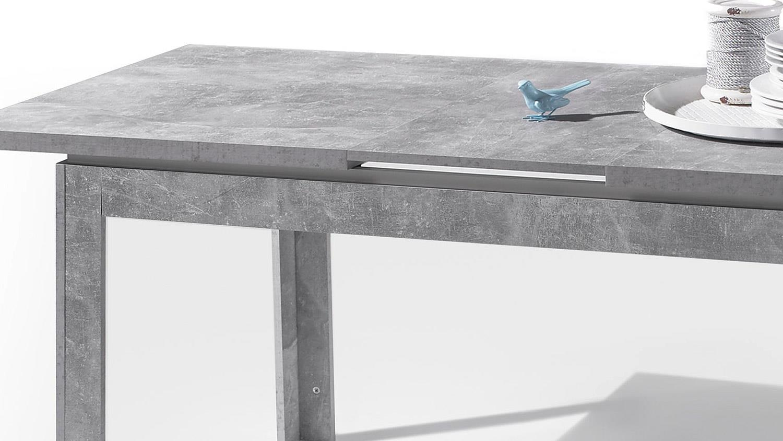 Full Size of Esstisch Beton Stone Tisch Optik Grau Und Wei Hochglanz 140 180x80 Cm Betonoptik Küche Nussbaum Holzplatte Weiß Massivholz Bad Mit Baumkante Sheesham Esstische Esstisch Beton