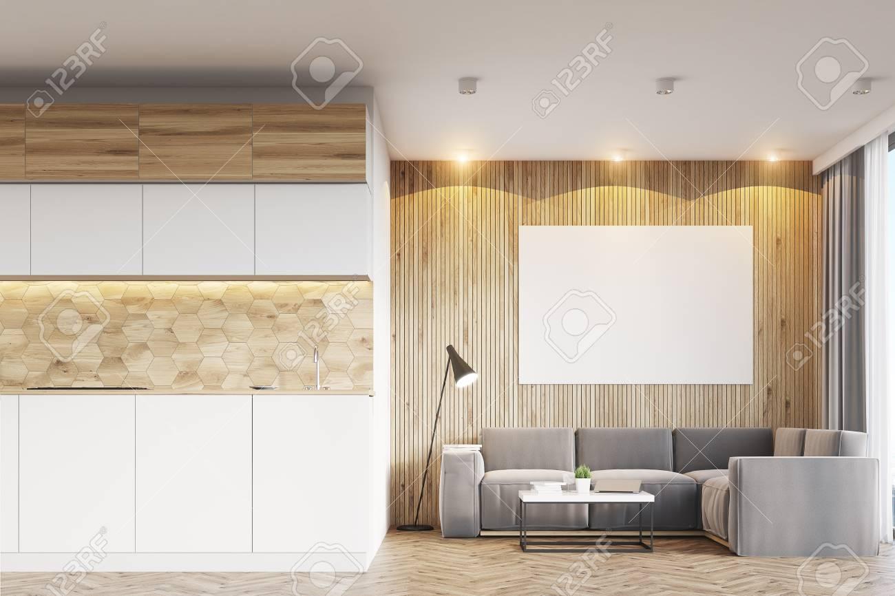 Full Size of Küchentheke Wohnzimmerinnenraum Mit Hellen Hlzernen Wohnzimmer Küchentheke