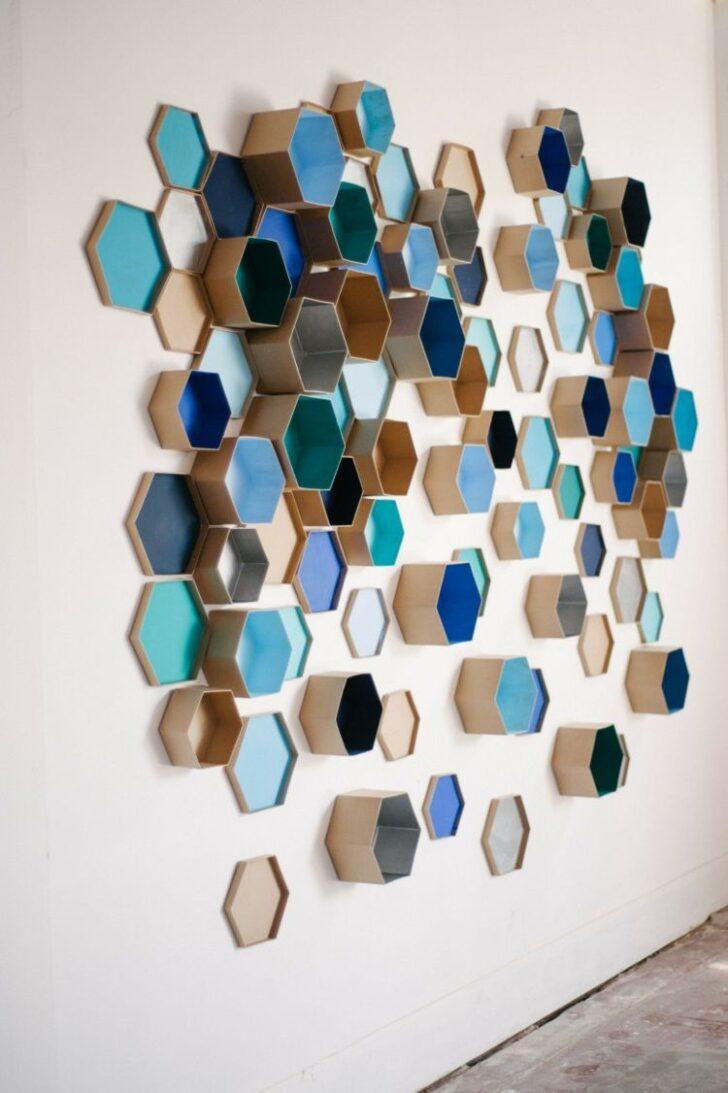 Medium Size of Deko Ideen Mit Hexagon Motiven Frs Interieur 20 Inspirationen Wanddeko Küche Wohnzimmer Tapeten Bad Renovieren Wohnzimmer Wanddeko Ideen