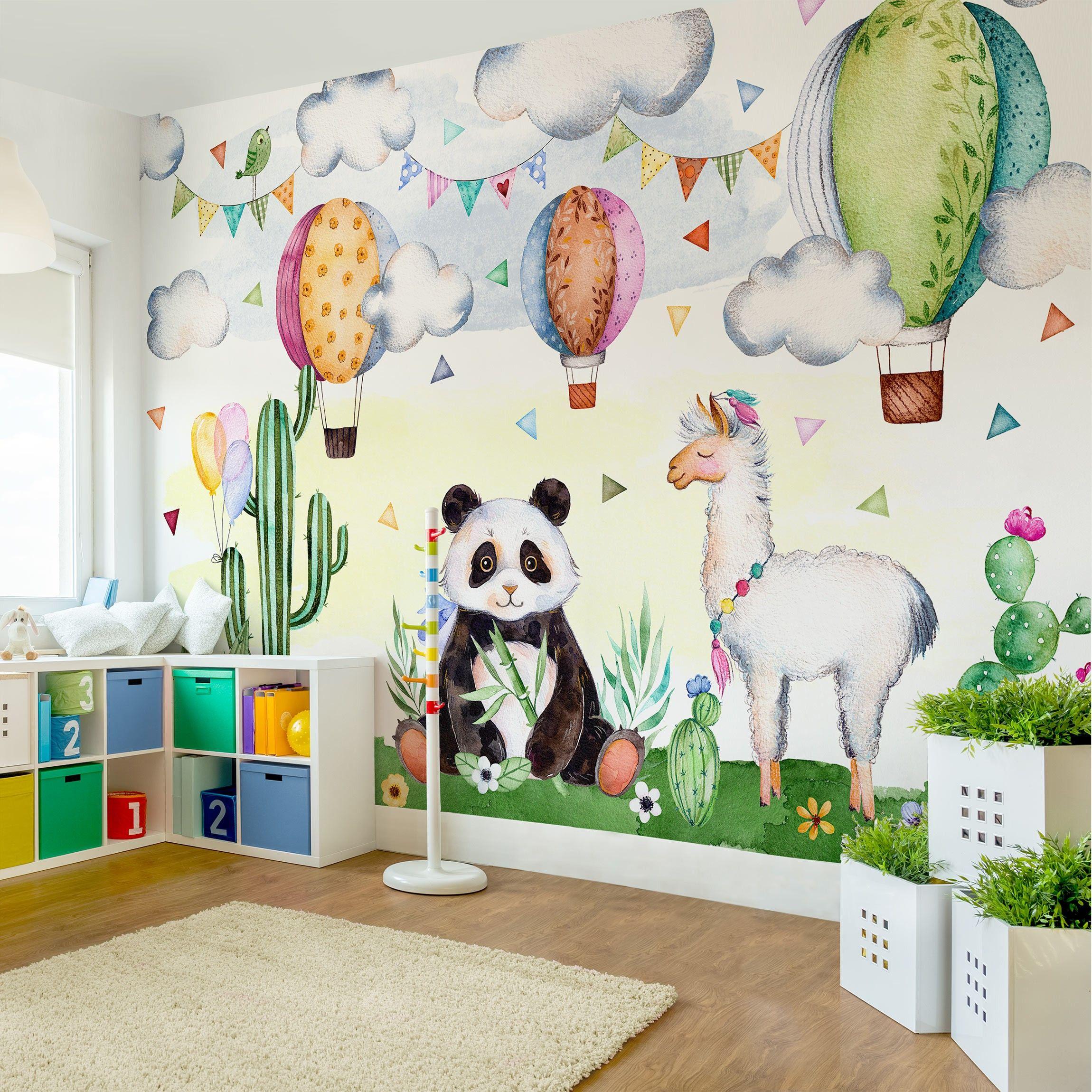 Full Size of Kinderzimmer Tapete Fototapete Panda Und Lama Aquarell In 2020 Regal Weiß Wohnzimmer Tapeten Ideen Fenster Für Küche Schlafzimmer Die Fototapeten Sofa Wohnzimmer Kinderzimmer Tapete