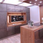 Holzküchen Wohnzimmer Exklusive Holzkche Mit Metallfronten