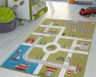 Kinderzimmer Teppiche Kinderzimmer Kinderzimmer Teppiche Teppich City Hafen Spielteppich Teppichmax Regal Regale Wohnzimmer Sofa Weiß