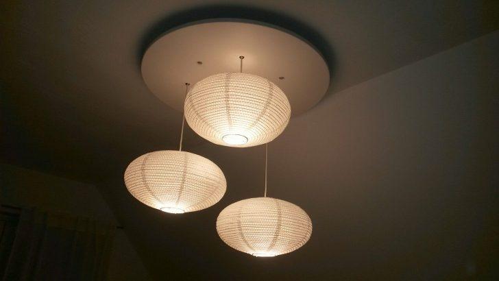 Medium Size of Diy Lampe Mit Ikea Solleftea Lampenschirmen Einbauschrank Schlafzimmer Deckenlampe Betten 160x200 Esstisch Bad Deckenlampen Wohnzimmer Für Küche Kaufen Sofa Wohnzimmer Deckenlampe Ikea