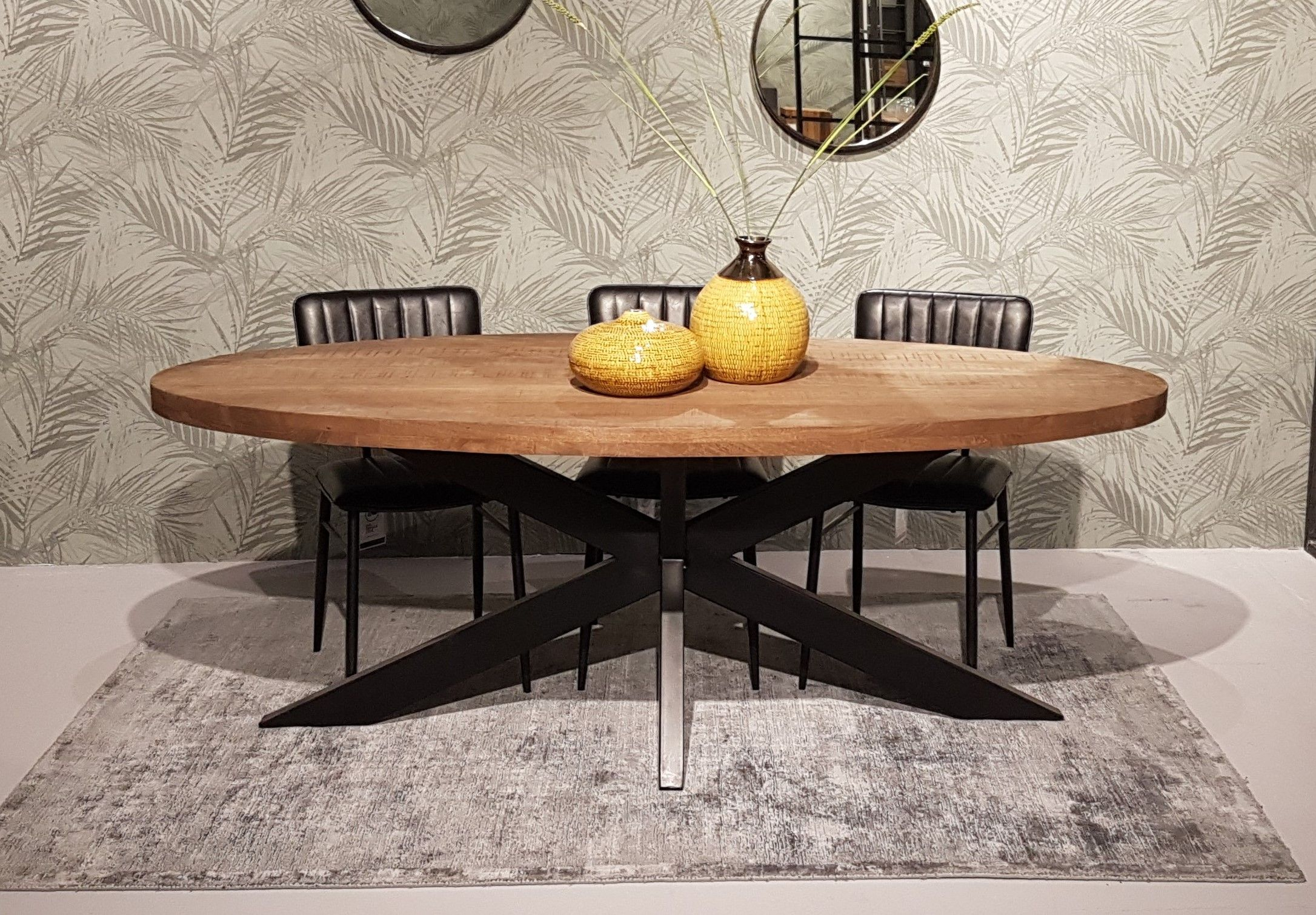 Full Size of Esstisch Sturdy Oval 210 100 Cm Mangoholz Dinnertisch Tisch Beton Massivholz Ausziehbar Esstische Holz Runder Set Günstig Deckenlampe Nussbaum Kleiner Weiß Esstische Ovaler Esstisch