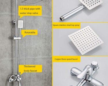 Mischbatterie Dusche Dusche Mischbatterie Dusche Thermostat Mischarmatur Glasabtrennung Bodengleiche Fliesen Begehbare Moderne Duschen Glaswand Komplett Set Kaufen Walk In Badewanne Mit