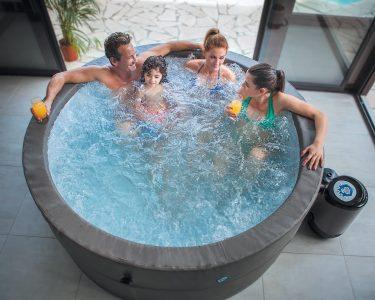 Whirlpool Aufblasbar Wohnzimmer Whirlpool Aufblasbar Aufblasbarer Jacuzzi Vita Premium Fr 6 Personen Garten