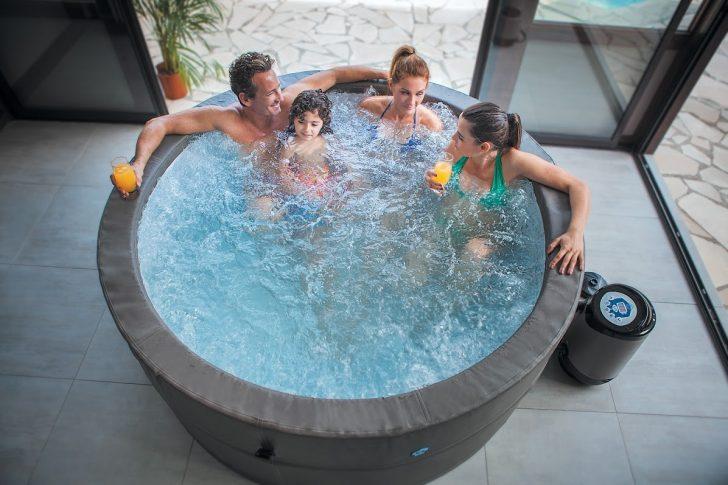 Whirlpool Aufblasbar Aufblasbarer Jacuzzi Vita Premium Fr 6 Personen Garten Wohnzimmer Whirlpool Aufblasbar