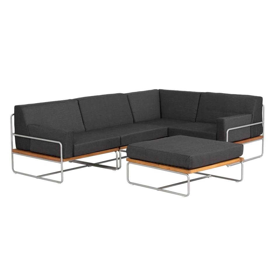 Full Size of Outliv Largo Loungeecke 5 Teilig Stahl Akazie Mit Kissen Garten Lounge Sessel Set Loungemöbel Holz Möbel Günstig Sofa Wohnzimmer Terrassen Lounge