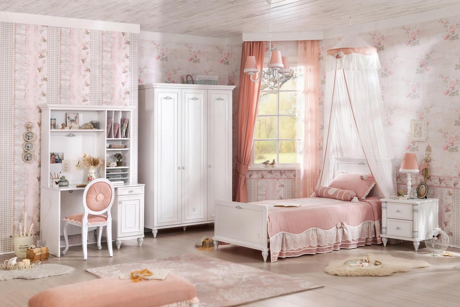 Full Size of Kinderzimmer Prinzessin Komplett Wei Romantica Furnart Regal Weiß Regale Bett Sofa Prinzessinen Kinderzimmer Kinderzimmer Prinzessin