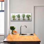 Küche Deko Wohnzimmer Küche Deko Glasbild 80x30cm Wandbild Aus Glas Kche Gewrze Kruter Vinylboden Tapeten Für Mit Geräten L Elektrogeräten Modulküche Hängeschrank Glastüren