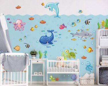 Wandtatoo Kinderzimmer Kinderzimmer Wandtatoo Kinderzimmer Bilderwelten Wandtattoo Unterwasserwelt Fisch Set Regal Weiß Regale Küche Sofa