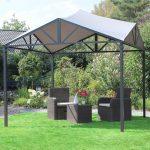 Leco Solar Pavillon Lina Dach Terrasse Garten Berdachung Bewässerung Automatisch Loungemöbel Holz Whirlpool Aufblasbar Spielhaus Versicherung Skulpturen Wohnzimmer Garten überdachung