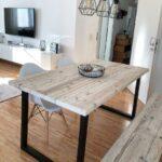 Esstisch Rustikal Esstische Esstisch Tisch Industrial Bauholz Altholz Holz Rustikal In Groß Küche Esstische Ausziehbar Holzplatte Teppich Bank Buche Shabby Stühle Designer Ausziehbarer