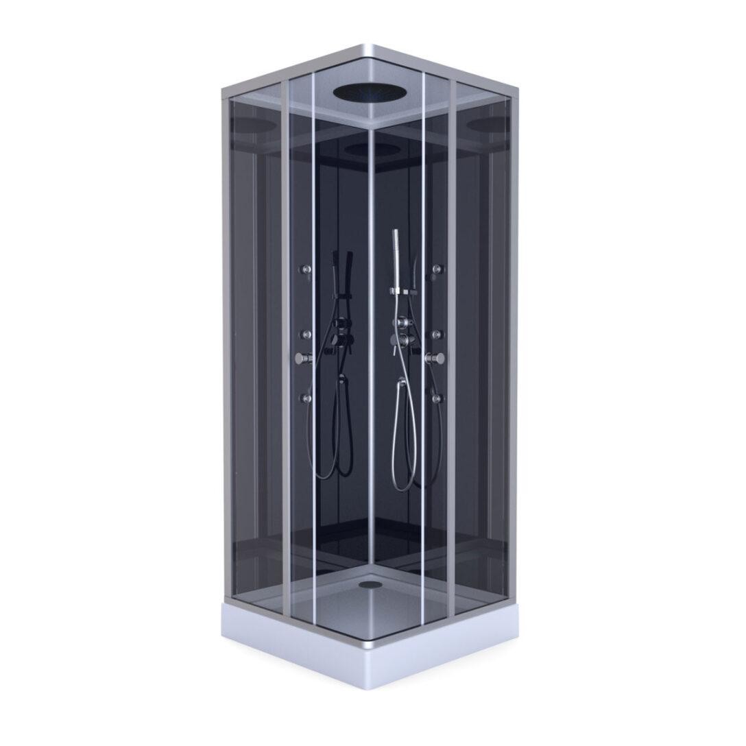 Large Size of Dusche Komplett Set Aurlane Komplettdusche Colours Black 90x90 Cm Aluminium Bett 160x200 Badewanne Mit Hüppe Begehbare Barrierefreie Einhebelmischer Günstige Dusche Dusche Komplett Set