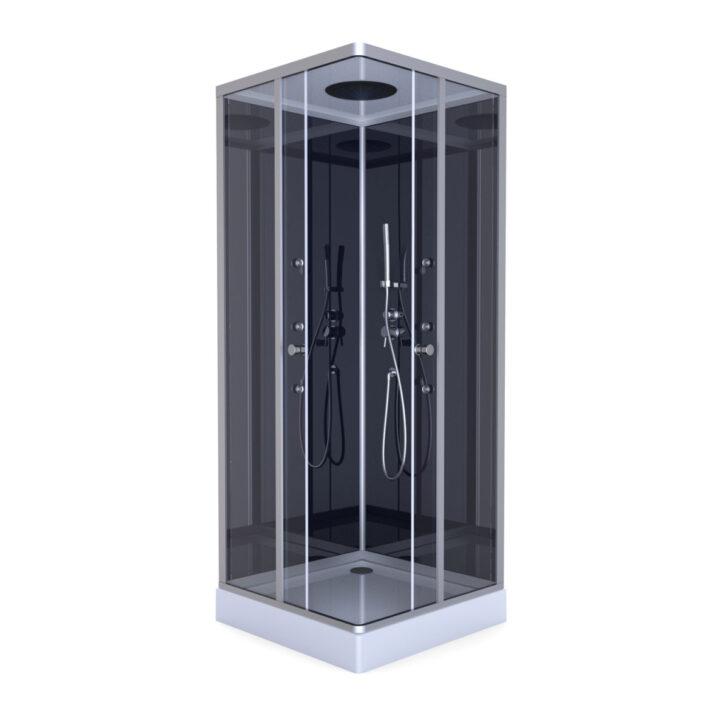 Medium Size of Dusche Komplett Set Aurlane Komplettdusche Colours Black 90x90 Cm Aluminium Bett 160x200 Badewanne Mit Hüppe Begehbare Barrierefreie Einhebelmischer Günstige Dusche Dusche Komplett Set