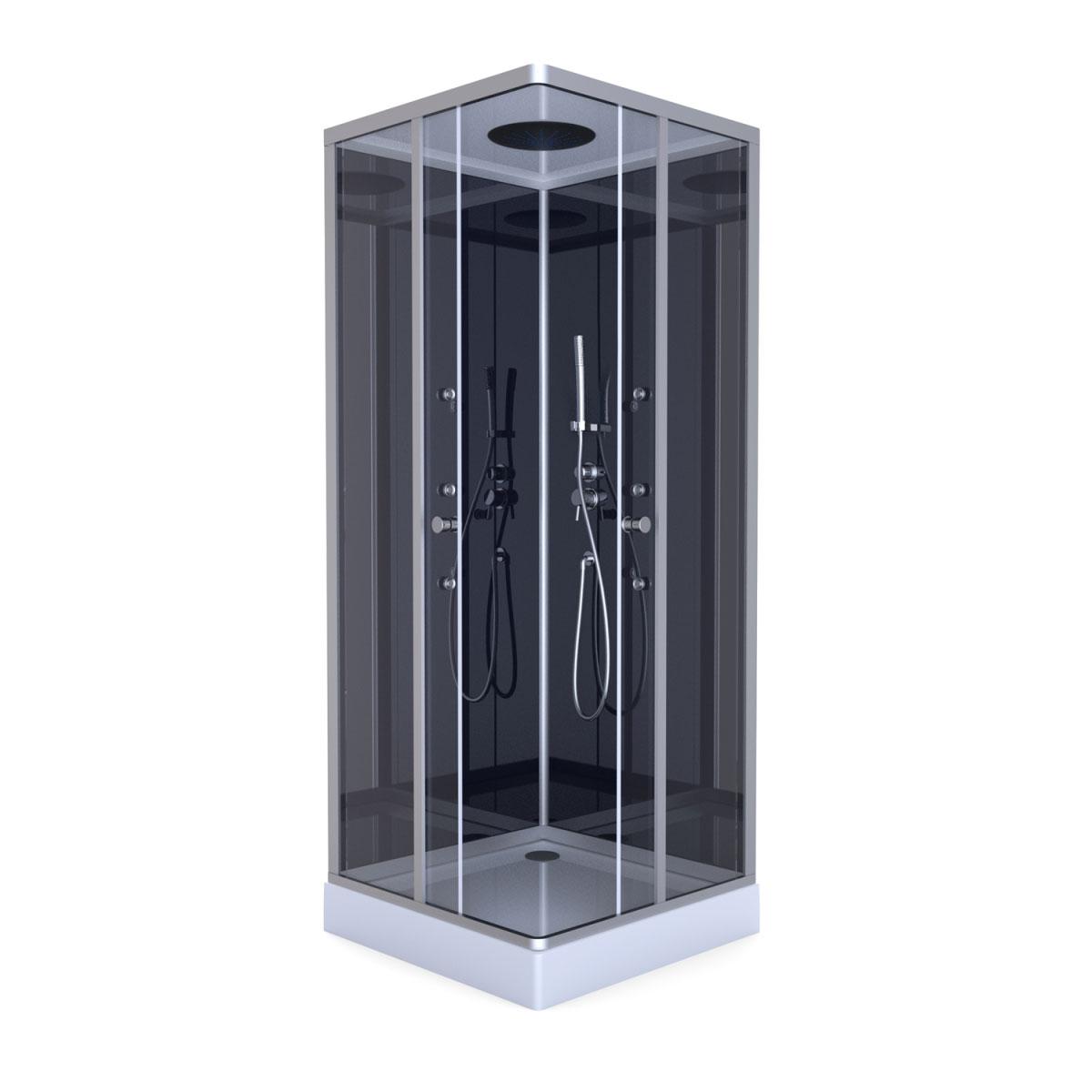 Full Size of Dusche Komplett Set Aurlane Komplettdusche Colours Black 90x90 Cm Aluminium Bett 160x200 Badewanne Mit Hüppe Begehbare Barrierefreie Einhebelmischer Günstige Dusche Dusche Komplett Set