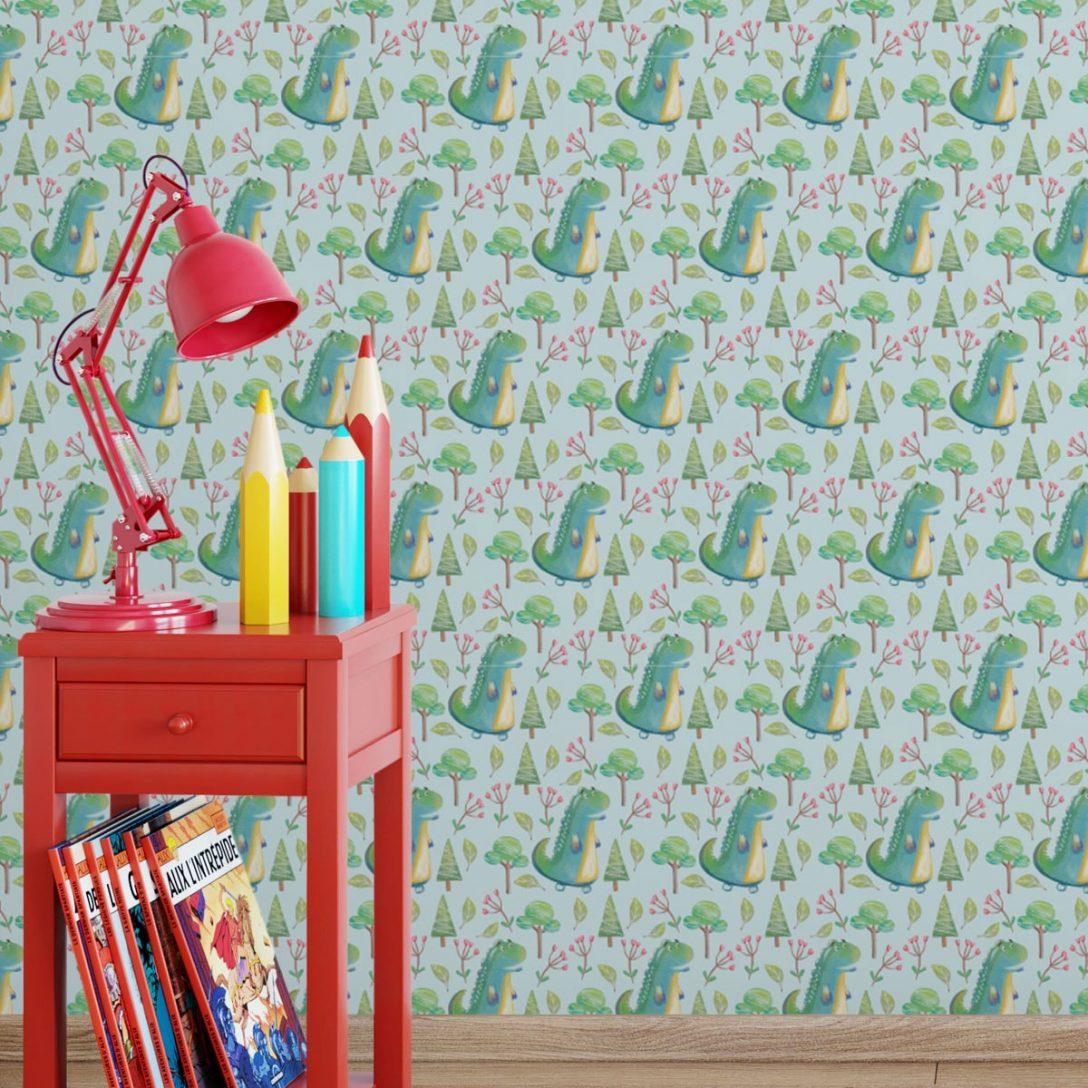Large Size of Kinderzimmer Tapete Mit Kleinen Drachen Im Zauberwald Gmm Berlincom Tapeten Für Küche Wohnzimmer Fototapete Sofa Fenster Die Regal Fototapeten Schlafzimmer Wohnzimmer Kinderzimmer Tapete