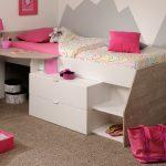 Hochbett Mika Fr Mdchen Und Jungen 90x200cm Bett Mädchen Betten Wohnzimmer Kinderbett Mädchen